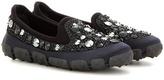 Miu Miu Embellished Slip-on Sneakers