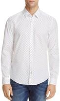HUGO BOSS Lance Dotted Dobby Regular Fit Button-Down Shirt