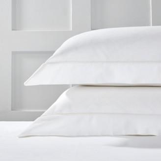 The White Company Ambrose Oxford Pillowcase, Ivory, Large Square