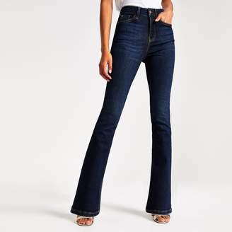 River Island Womens Dark Blue bootcut jeans