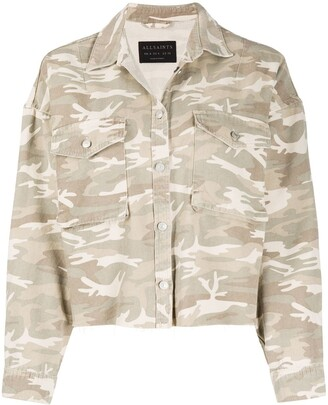 AllSaints Sol camouflage denim jacket
