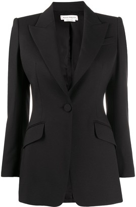 Alexander McQueen Single-Breasted Tailored Blazer