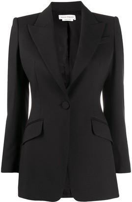 Alexander McQueen Single-Breasted Tailored Blazer
