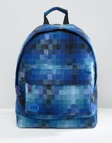 Mi-pac Pixel Check Backpack Blue