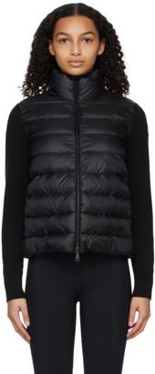 Moncler Black Down Wool Jacket