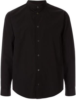 Th Band Collar Long Sleeve Shirt