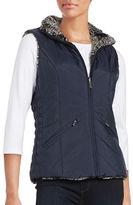 Weatherproof Faux Fur Reversible Vest
