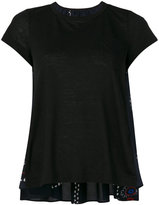 Sacai paisley panel babydoll t-shirt