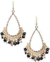 Natasha Accessories Shaky Bead Teardrop Earrings
