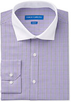 Vince Camuto Men's Slim-Fit Purple Check Dress Shirt