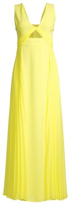 BCBGMAXAZRIA Eve Contrast Pleated Gown