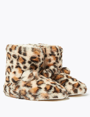 Marks and Spencer Kids' Leopard Slippers (5 Small - 6 Large)