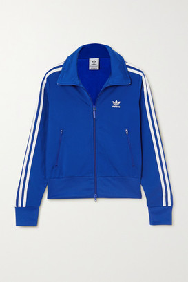 adidas Firebird Striped Satin-jersey Track Jacket - Royal blue