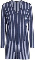 Saks Fifth Avenue COLLECTION Plaited Stripe Open-Front Cardigan