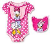 Disney Daisy Duck Newborn Bodysuit & 2 Bibs - Pink
