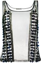 L'Autre Chose studded detail top - women - Nylon - 38