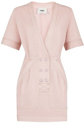 Fendi Rosewood Pink Denim Dress