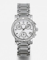 BULOVA Diamond Stainless Steel Chronograph Watch