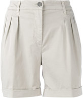 Fay pleated bermuda shorts - women - Cotton/Spandex/Elastane - 28