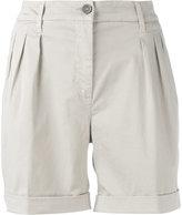 Fay pleated bermuda shorts - women - Cotton/Spandex/Elastane - 30