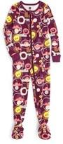 Tea Collection Kirameki Fitted One-Piece Pajamas (Baby Girls)