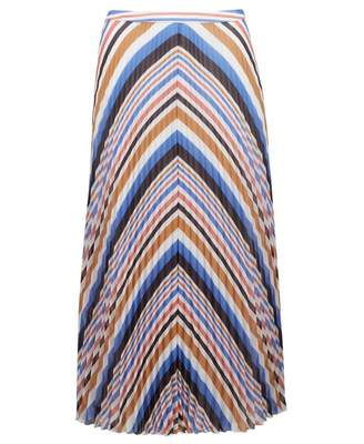 BOSS Bareny Striped Midi Skirt Colour: MULTI, Size: 6