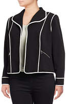 Calvin Klein Plus Contrast Piping Jacket