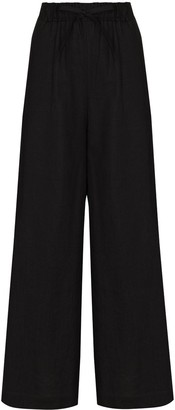 Missing You Already Wide-Leg Linen Trousers
