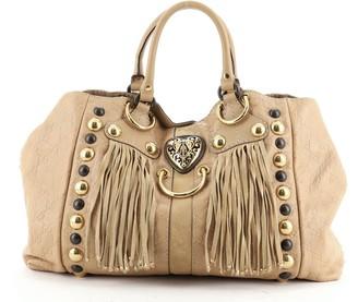 Gucci Fringe Babouska Tote Guccissima Leather Medium