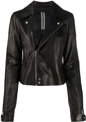 Rick Owens Off-Centre Zip Biker Jacket