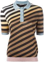 Marco De Vincenzo striped polo shirt - women - Polyamide/Polyester/Acetate - 42