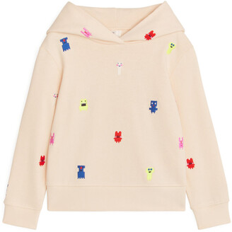 Arket Monster Embroidered Hoodie
