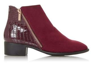 Dorothy Perkins Womens *Head Over Heels By Dune 'Pera' Burgundy Ankle Boots, Burgundy