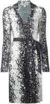 Diane von Furstenberg splatter print wrap dress