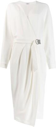 Brunello Cucinelli Midi Wrap Dress