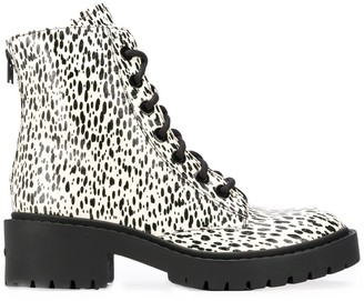 Kenzo Paint-Splatter 55mm Ankle Boots