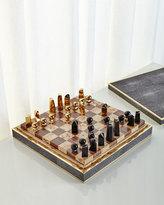 AERIN Chocolate Shagreen Chess Set