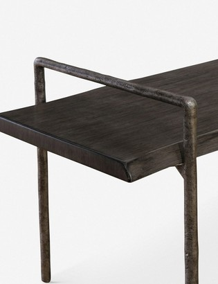 Lulu & Georgia Indrani Bench, Dark Gray