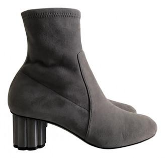 Salvatore Ferragamo Grey Suede Ankle boots