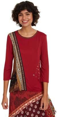 Desigual Inge T-Shirt with 3/4 Length Sleeves