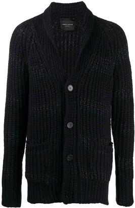 Roberto Collina Ribbed-Knit Stripe Cardigan