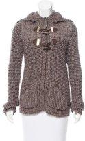 Pinko Wool-Blend Hooded Cardigan
