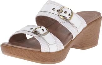 Dansko Women's Jessie White/Multi Wedge Sandal 39 EU/8.5-9 M US