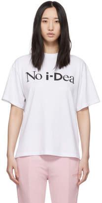 Aries White i-D Edition No Ideas. T-Shirt