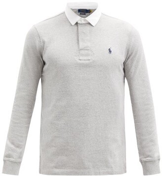 Polo Ralph Lauren Logo-embroidered Jersey Polo Shirt - Grey