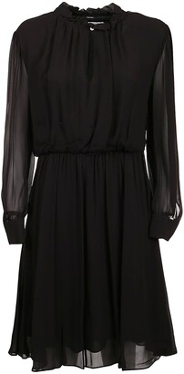 Calvin Klein Gathered Long Sleeve Dress