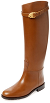 Valentino Lion Buckle Riding Boot