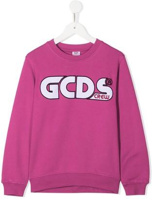 Gcds Kids Logo Embroidered Sweatshirt