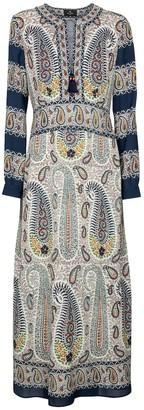 Etro Paisley crepe maxi dress
