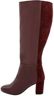 Monsoon Robyn Leather And Suede Long Boot
